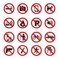 simbolo del segno di divieto vettore