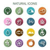 icone di lunga ombra naturale vettore