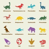 elementi vettoriali di dinosauro