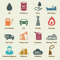 elementi vettoriali di petrolio