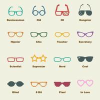 occhiali elementi vettoriali