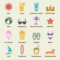 elementi vettoriali di spiaggia