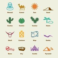 elementi vettoriali del deserto
