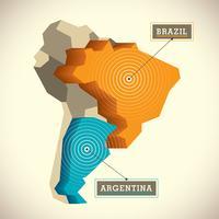 Mappa del Sud America
