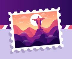 Illustrazione del francobollo del Brasile