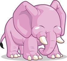 carino elefante mascotte bambini fumetto illustrazione disegno vettoriale
