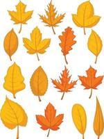 disegno rosso dell'illustrazione del fumetto del fogliame di caduta delle foglie di autunno vettore