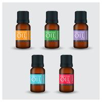 Bottiglie di olio essenziale in stile fotorealistico