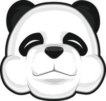 Disegno dell'illustrazione di vettore del fumetto della testa del panda gigante sveglio