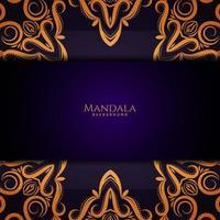 bellissimo sfondo di lusso decorativo design mandala vettore
