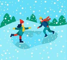 divertimento invernale e giochi vettore