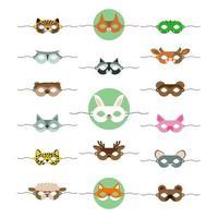 maschere animali carini, ottimo design per qualsiasi scopo vettore