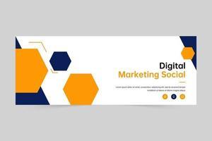 copertina del banner di marketing digitale e modello di banner web vettore