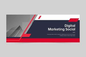 copertina aziendale moderna o modello di banner web vettore