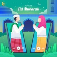 eid mubarak saluto design vettore
