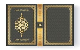 design di copertina del libro ornamentale di lusso vettore