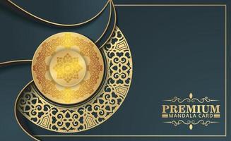 sfondo mandala ornamentale di lusso con stile arabo islamico orientale premium vettore
