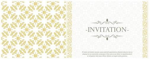 modello ornamentale di lusso bianco invito sfondo stile vettore