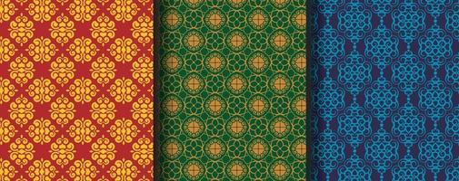 raccolta di motivi etnici ornamentali senza soluzione di continuità vettore