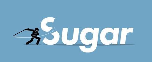tagliare lo zucchero per una dieta sana. vettore
