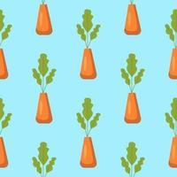 seamless con piante in vaso vettore