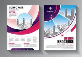 design brochure, layout moderno di copertina, set di report annuali vettore
