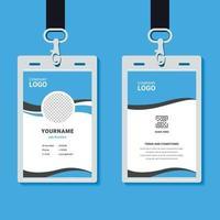 modello di carta d'identità aziendale professionale con mockup vettore