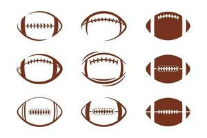 set di icone di calcio vettore