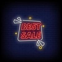 miglior vettore di testo in stile insegne al neon di vendita