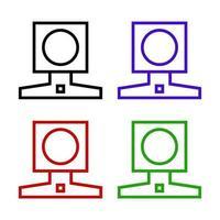 web cam impostata su sfondo bianco vettore