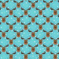 modello divertente senza soluzione di continuità con la testa di cervo su sfondo di stelle. vettore