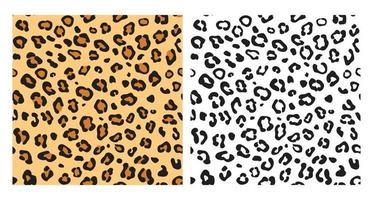 fondo senza cuciture del leopardo. trama di leopardo con motivo a colori e design isolato motivo nero. vettore