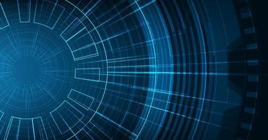 microchip di circuito moderno su sfondo tecnologico, design digitale hi-tech e concetto di sicurezza vettore