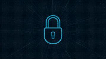 sicurezza del blocco tecnologico, protezione e concetto sicuro vettore