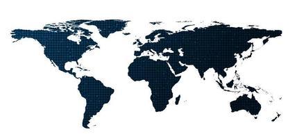 sfondo bianco tecnologia globale, connessione e comunicazione concept design vettore