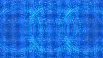 cyber microchip su sfondo tecnologico, hi tech e concept design di sicurezza vettore