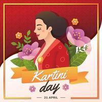 kartini day celebrazione eroi delle donne vettore