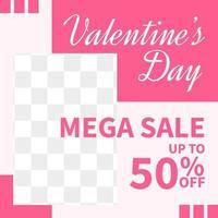 concetto creativo di banner di vendita di san valentino per la progettazione di modelli di post sui social media vettore