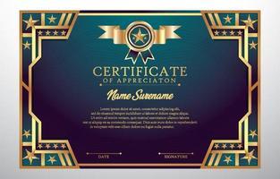 certificato del concetto di apprezzamento dei risultati vettore