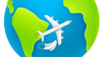 viaggio dopo il concetto di quarantena. aerei moderni con ombra sulla terra vettore