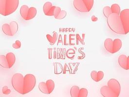felice giorno di San Valentino biglietto di auguri. modello per biglietto di auguri, copertina, presentazione vettore