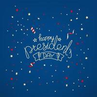 biglietto di auguri del giorno dei presidenti. concetto di vettore