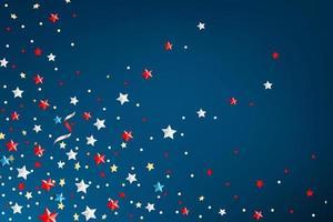 biglietto di auguri del giorno dei presidenti con stelle di colore vettore
