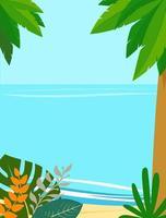 sfondo paesaggio estivo con copia spazio per il testo vettore
