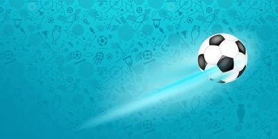 pallone da calcio su sfondo blu vettore