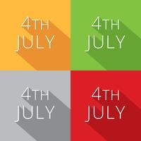 4 ° raccolta di luglio vettore