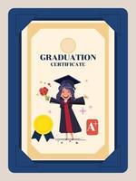 certificato di laurea vettore