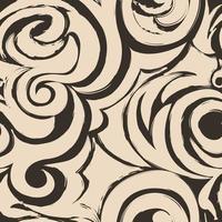 modello senza cuciture marrone di spirali e riccioli. ornamento decorativo per lo sfondo. vettore