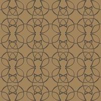 modello etnico senza cuciture celtico. stile lineare. ornamento lineare celtico nei toni del marrone o del beige. vettore