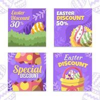 strumenti di marketing sconto speciale Pasqua colorati vettore